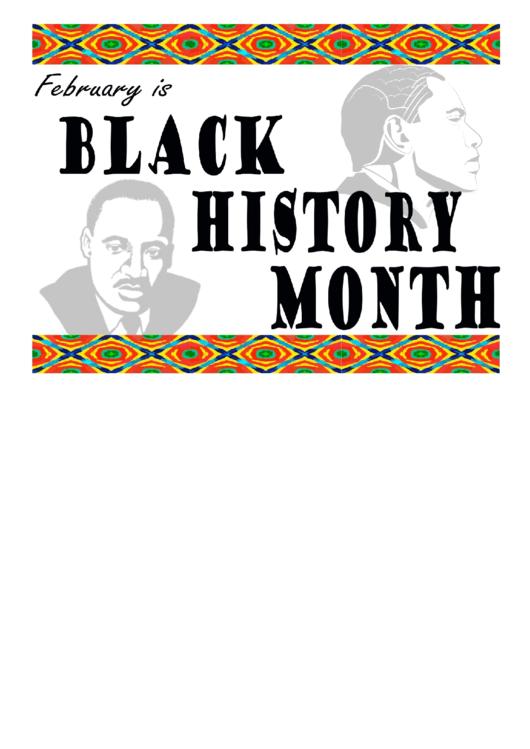 Black History Month Flyer Template Printable pdf