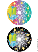 Stars Birthday Cd-dvd Labels