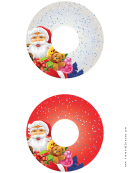 Santa Christmas Cd-dvd Label Template