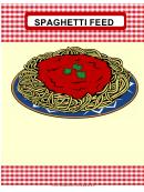 Spaghetti Feed Flyer Template