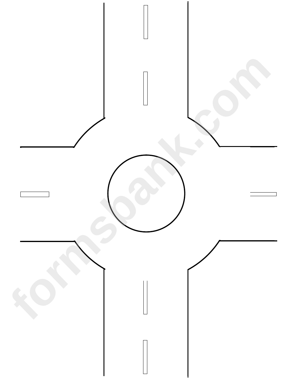 Roadmap Template For Accident Sketch Roundabout printable pdf download