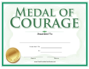 Medal Of Courage Award Certificate Template