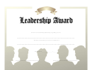Leadership Award Certificate Template - Tan And White