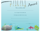Fishing Award Certificate Template