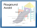 Playground Award Certificate Template
