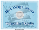Boat Design Award Certificate Template