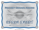 Pocket Design Award Certificate Template