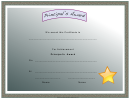 Principal's Award Certificate Template