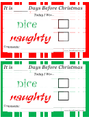 Nice Or Naughty Christmas Certificate Template