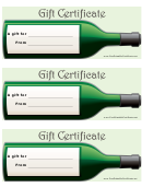 Gift Certificate Template