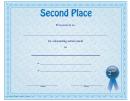 Second Place Certificate Template