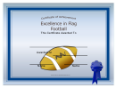 Flag Football Certificate Template