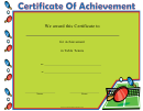 Table Tennis Certificate Of Achievement Template