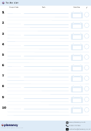 Planancy To-do List Template