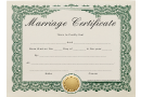 Marriage Certificate Template - Green Frame