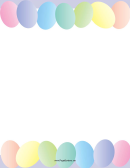 Painted Easter Eggs Page Border Template