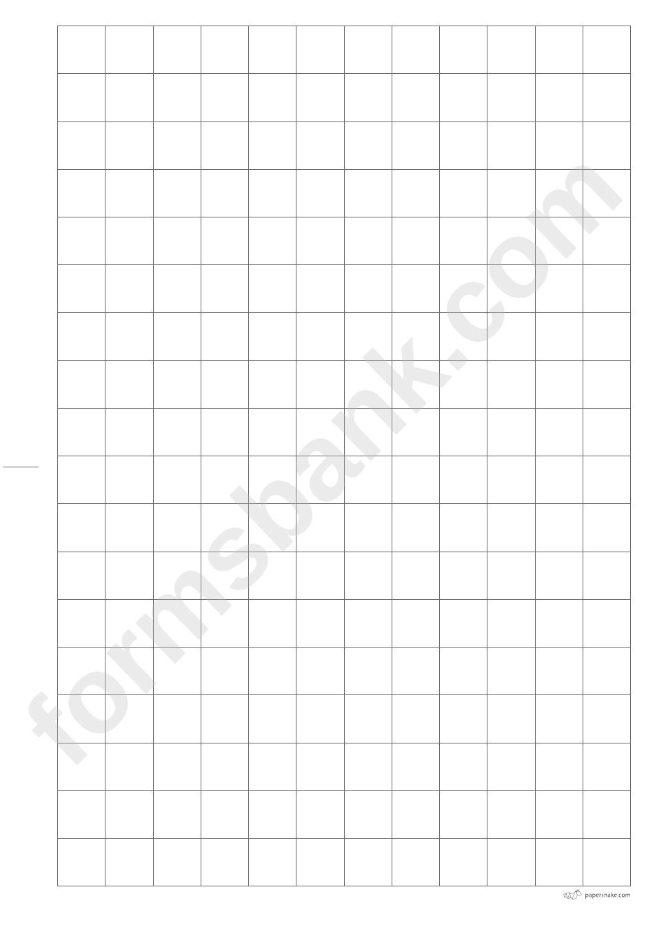 15x15 Squared Paper