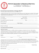 National Association Of Boards Of Pharmacy Social Security Number Change Notice