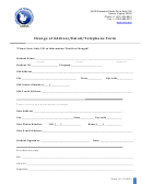 University Of North America Change Of Address/email/telephone Form