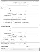 Pitzer College Address Change Form