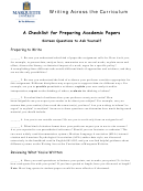 Checklist For Preparing Academic Papers