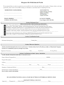 Request For Deferment Form