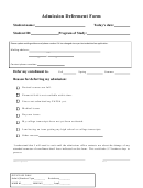 Admission Deferment Form