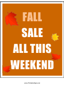 Fall Sale Sign