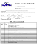 Loan Submission And Checklist