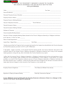 Form Dor 82009-r - Affidavit Of Property Owner's Lease To Church, Religious Assembly Or Religious Institution