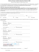 Payroll Direct Deposit Authorization Form - Maine School Administrative District 60