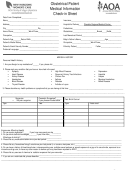 Obstetrical Patient Medical Information Check-in Sheet - Aoa Arizona