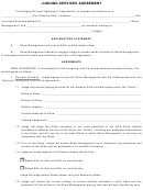 Judging Services Agreement Form