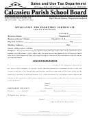 Application For Exemption Certificate - Lake Charles, La