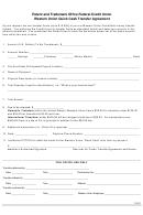 Western Union Quick Cash Transfer Agreement Form