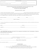 Affidavit And Application For Obtaining Duplicate Certificate Of Title Form - County Clerk Of Teton County, Wyoming