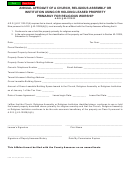 Form Dor 82132 - Annual Affidavit Form Of A Church, Religious Assembly Or Institution Using Or Holding Leased Property Primarily For Religious Worship
