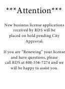 Application For Occupational License - City Of Mandeville, La