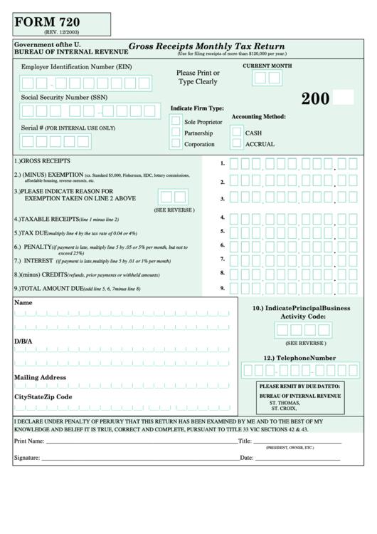 Filing Virgin Islands Tax Return