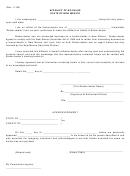 Affidavit Of No Sales Form