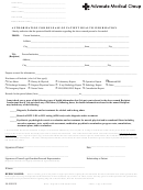 Authorization For Release Of Patient Health Information Form