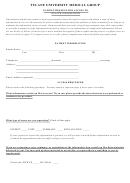 Patient Request For Access To Health Information Form