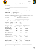 Respirator Fit Test Record Form