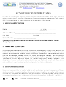 Form Ars - Application For Retired Status - California Board Of Occupational Therapy