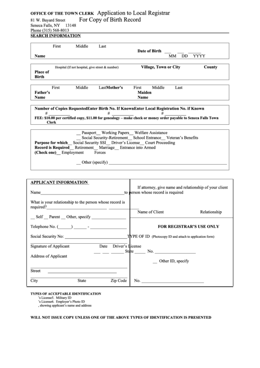 Top 11 Nys Birth Certificate Application Form Templates free to ...
