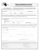 Form Fc8-13 - Affidavit And Application For Obtaining Duplicate Certificate Of Title - Fremont County Clerk