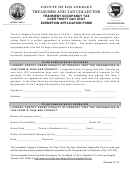 Transient Occupancy Tax Over Thirty Day Stay Exemption Application Form - Los Angeles County