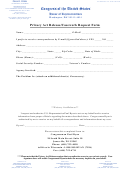 Privacy Act Release/casework Request Form
