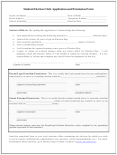 Student Election Clerk Application And Permission Form
