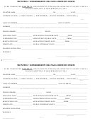 Monthly Membership Change/addition Form